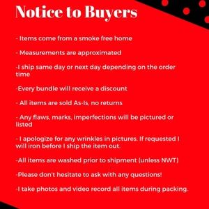 Notice to Buyers